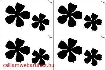 25. Virágok mini sablon