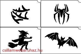 12. Halloween mini sablon   Új!