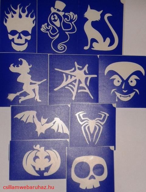 10 darabos halloween sablon készlet   ÚJ!