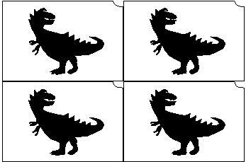 14. Dino mini sablon