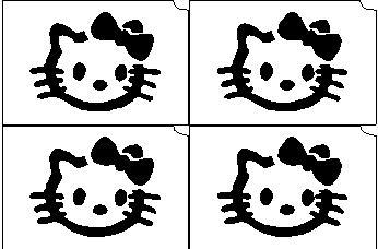 17. Hello Kitty mini sablon