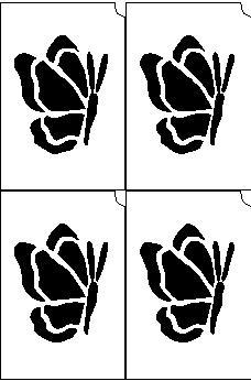 23. Lepke mini sablon