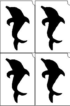 26. Delfin mini sablon
