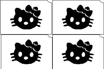17. Hello Kitty mini sablon  Új!