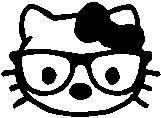 48. Hello Kitty szemüveges