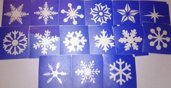 15 darabos hópehely sablon készlet